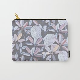 Leaf pattern | pale purple, grey and blue Carry-All Pouch
