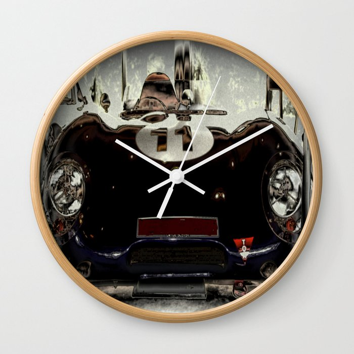 1956 Lotus Eleven Sports Car Wall Clock By Cjcphotography Society6