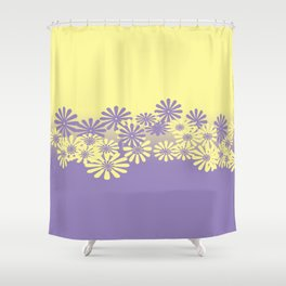 Lavender and Lemon Pattern Shower Curtain