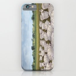 sheep in the field iPhone Case