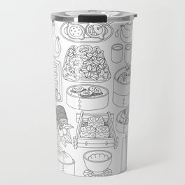 Sunday Dim Sum - Line Art Travel Mug
