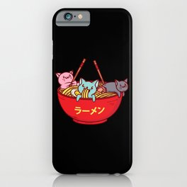 Kawaii Anime Cat Shirt - Funny Adorable Japanese Illustration iPhone Case