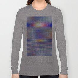 blue rhombus Long Sleeve T-shirt