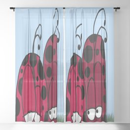 Unrequited Love Sheer Curtain