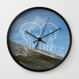 Whatever - Demotivational Poster Wall Clock