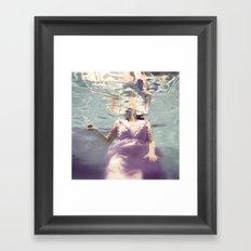 Dive in Violet Framed Art Print