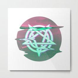 Pentagram Glitch 03 Metal Print