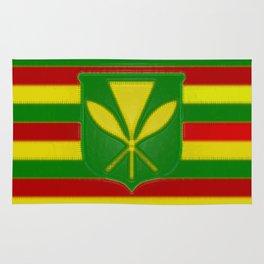 Fancy Flag:  Hawaii Kanaka Maoli Rug