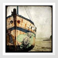 Boat Wreck #1 Art Print
