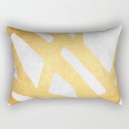 Modern pattern with gold I Rectangular Pillow