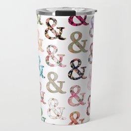 Floral Ampersand Travel Mug