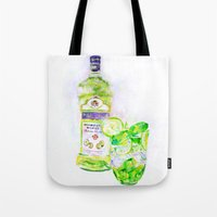 cocktail Tote Bags featuring Cocktail by LiliyaChernaya