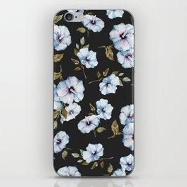 BLUE FLOWERS WATERCOLOR iPhone Skin