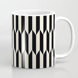 BW Oddities I - Black and White Mid Century Modern Geometric Abstract Coffee Mug