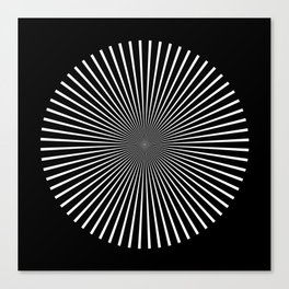 Op Art Flash (Minimalist Design) Canvas Print