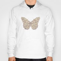 butterfly Hoodies featuring Butterfly by Mike Koubou