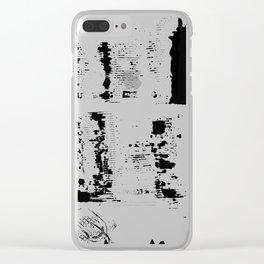 Faint streaks Clear iPhone Case