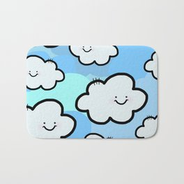 Cheery Cloud Cluster Bath Mat
