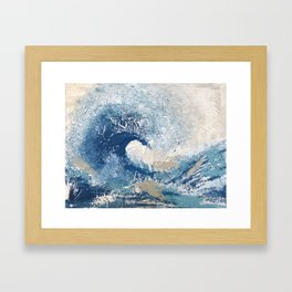 The Great Wave Abstract Ocean Framed Art Print