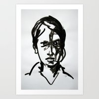 sandra dieckmann Art Prints featuring Sandra by Stefan Boettcher