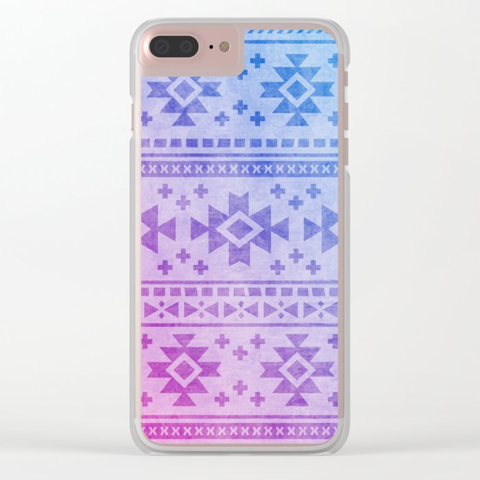 Aztec Pattern 04 Clear iPhone Case
