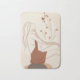 Abstract Woman Bath Mat
