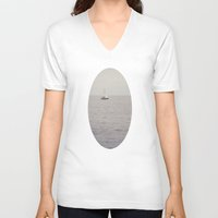 sailboat V-neck T-shirts featuring Sailboat by Jessica Torres Photography