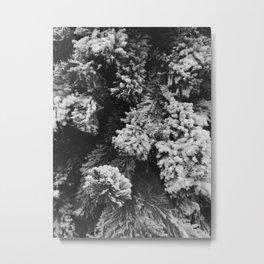 Flocked Metal Print