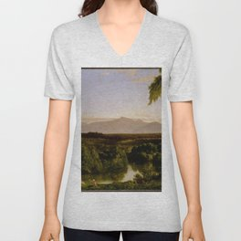 Thomas Cole - View on the Catskill—Early Autumn Unisex V-Neck
