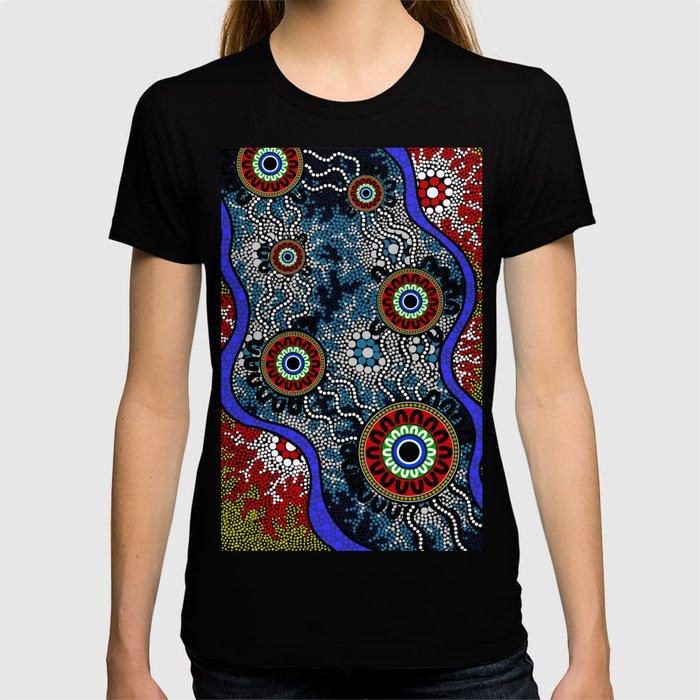 Aboriginal Art – Camping T-shirt