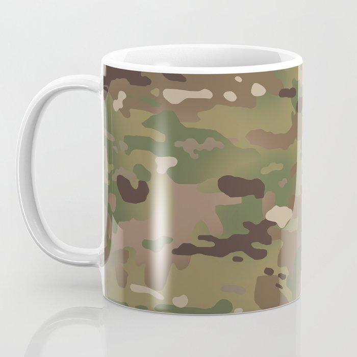 Military Woodland Camouflage Pattern Coffee Mug
