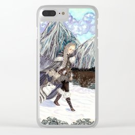 Goddess of Winter and Hunt Clear iPhone Case