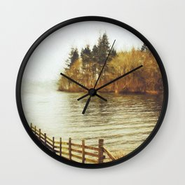 Lakeside Sojourn Wall Clock