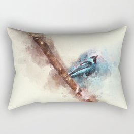 Blue Bird Rectangular Pillow