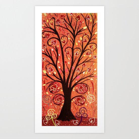 Abstratc tree 5 Art Print