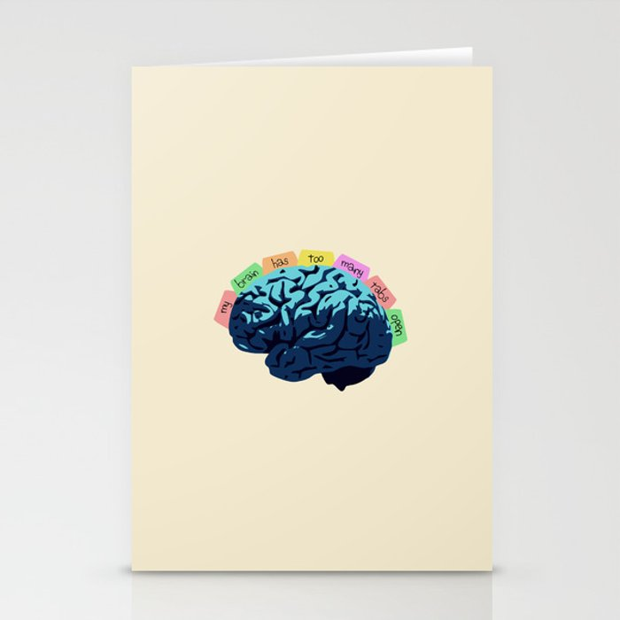 My Brain Has Too Many Tabs Open Stationery Cards
