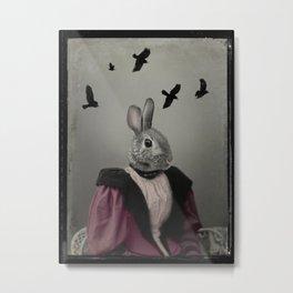 Miss Bunny Metal Print