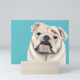 Sweet Little English Bulldog Mini Art Print