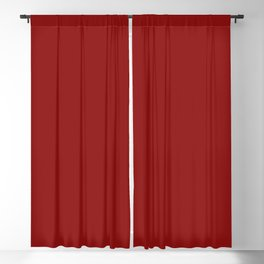 Navy Red Solid Color Blackout Curtain