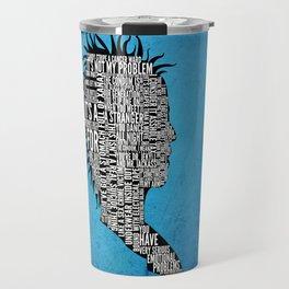 Typography Marla Singer Travel Mug