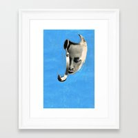 radiohead Framed Art Prints featuring radiohead by tareco
