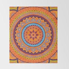 Hippie mandala 67 Throw Blanket