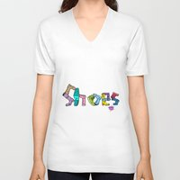 shoes V-neck T-shirts featuring Shoes by Anthony Mwangi