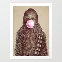 pun Art Prints featuring Big Chew by Eric Fan