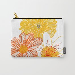 Orange and yellow flowers Carry-All Pouch