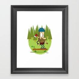 Lumber Jack Sk8er Framed Art Print