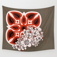 hawaiian Wall Tapestries featuring Mid Century Hawaiian by Vikki Salmela