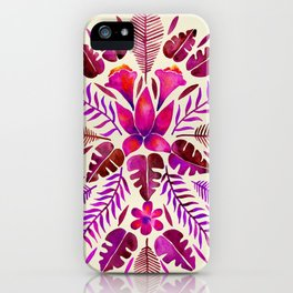 Tropical Symmetry – Magenta iPhone Case