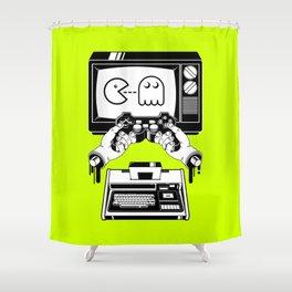 Joy(stick) Division Shower Curtain
