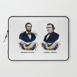 Lincoln And Johnson Campaign Poster Laptop Sleeve